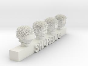 Head Series: Cyberpunk in White Natural Versatile Plastic