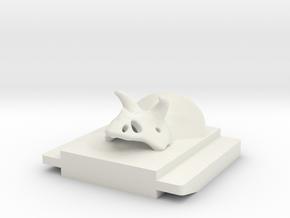 accessory shoe cap Triceratops in White Natural Versatile Plastic
