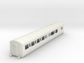 o-76-gwr-e128-rh-brake-comp-coach in White Natural Versatile Plastic