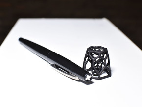 H Pen Holder in Black Natural Versatile Plastic