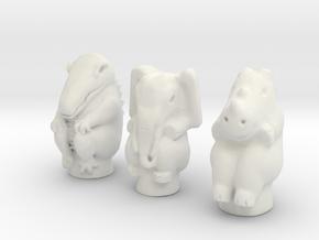 Croc Elephant Rhino FULL SIZE in White Premium Versatile Plastic