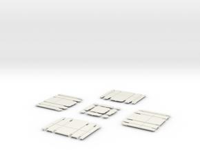 90 deg 2 track crossing 2 track atlas cover  in White Natural Versatile Plastic