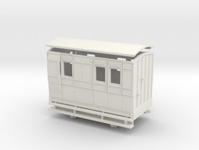 OO9 4w brake coach arc roof in White Strong & Flexible