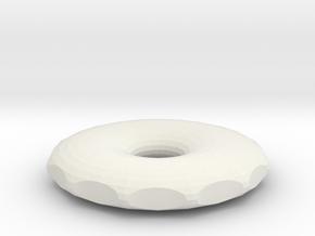 decreased small hole rodin coil 90x90x15,77 in White Natural Versatile Plastic