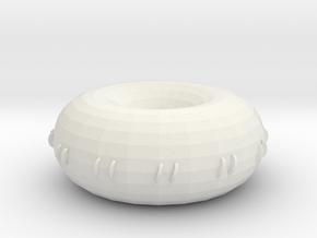 decreased small hole rodin coil   in White Natural Versatile Plastic