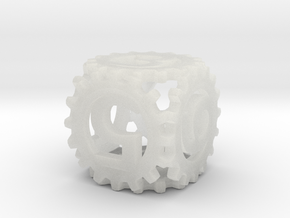Static Gear Die (D6) in Smooth Fine Detail Plastic