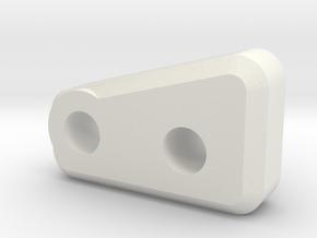 Capra Axle P Hard Front in White Natural Versatile Plastic