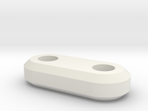 4mm spacer in White Natural Versatile Plastic