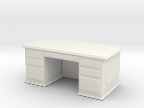 Office Wood Desk 1/43 in White Natural Versatile Plastic