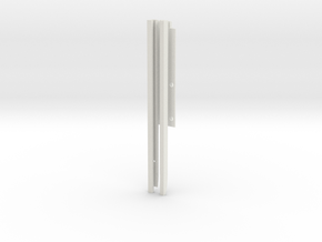 pg492c Beneteau rails, iteration.17 in White Natural Versatile Plastic