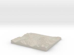 Model of Kitzbühel in Natural Sandstone
