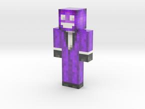 Small_mol_Purple_Deadmau5 | Minecraft toy in Glossy Full Color Sandstone
