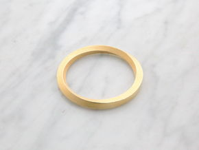 Möbius One in Polished Gold Steel: Extra Small