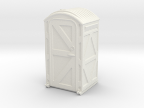 Portable Toilet 1/56 in White Natural Versatile Plastic
