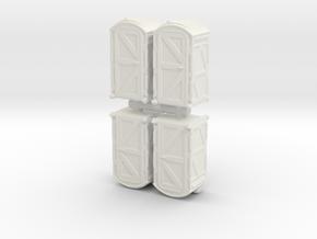 Portable Toilet (x4) 1/144 in White Natural Versatile Plastic