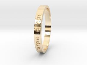 Carpe Diem in 14k Gold Plated Brass: 6 / 51.5