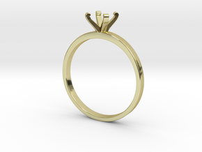 Plain Size 8 Ring - 6mm Gem - 4 prong v3 in 18k Gold