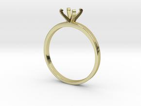 Plain Size 8 Ring - 6mm Gem - 4 prong v3 in 18k Gold