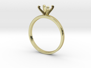 Plain Size 7 Ring - 6mm Gem - 4 prong v3 in 18k Gold