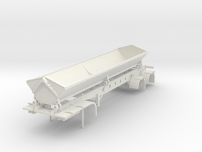 000558 USA Side Dumper in White Natural Versatile Plastic: 1:87 - HO