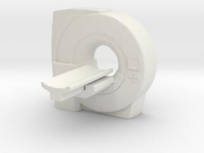 MRI Scan Machine 1/64 in White Natural Versatile Plastic