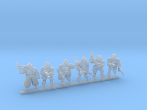 TlhIngan Warriors 15mm scale in Smooth Fine Detail Plastic