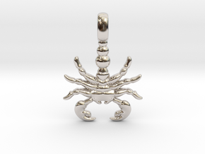 SCORPION TOTEM Zodiac Pendant Jewelry Symbol in Platinum