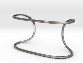 String Bracelet in Fine Detail Polished Silver
