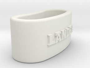 LANDER napkin ring with lauburu in White Natural Versatile Plastic