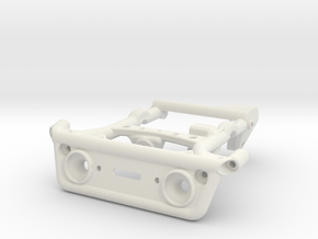 Axial Capra: Front Winch Mount in White Natural Versatile Plastic