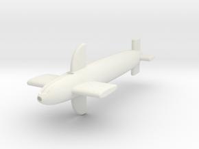 (1:72) Bachem Bemannten Rakete (Initial Design) in White Natural Versatile Plastic