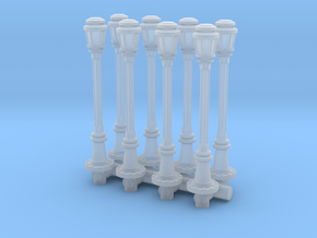 City Lamp Post (x8) 1/144 in Smooth Fine Detail Plastic