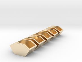 5x Construction waste trough - Bauschutt-Mulde  in 14K Yellow Gold