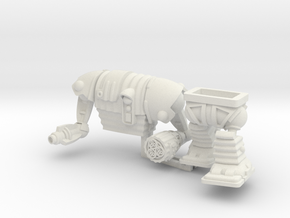 Corig-8 droid with Guns 77mm high in White Natural Versatile Plastic