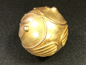 Golden Snitch (Solid Metal) in Natural Brass