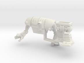 Corig-8 droid with Arms 77mm high in White Natural Versatile Plastic