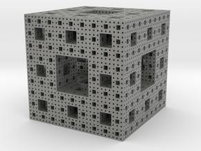 Menger Sponge in Gray PA12: Small