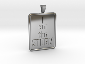 I AM THE STORM with Bail in Fine Detail Polished Silver