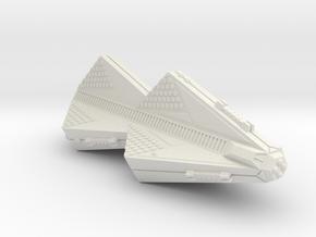 3125 Scale Tholian X-Ship War Cruiser (CWX) SRZ in White Natural Versatile Plastic