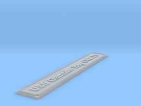 Nameplate USS Gambier Bay CVE-73 in Smoothest Fine Detail Plastic
