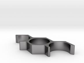 Hex Triple Ring in Polished Nickel Steel: 8.75 / 58.375