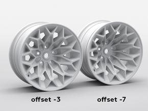 x4 1:10 RC DRIFT D52 Snowflake Rims in White Natural Versatile Plastic