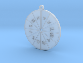 Aries - Zodiac Pendant in Smoothest Fine Detail Plastic