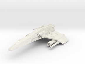 "E-Wing 3"" long in White Natural Versatile Plastic"