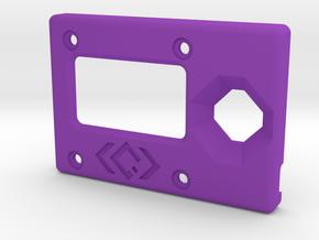 KISS Keychain Configurator Case - Top (1/2) in Purple Processed Versatile Plastic