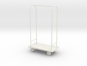1:24 Luggage Cart in White Natural Versatile Plastic