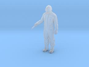 Scientist with syringe coronavirus miniature games in Smooth Fine Detail Plastic