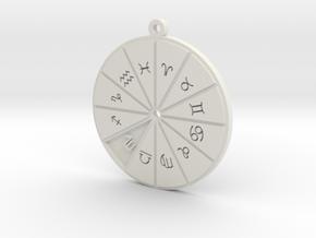 Scorpio - Zodiac Pendant in White Premium Versatile Plastic