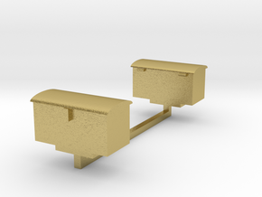 GWR Tool Boxes in Natural Brass