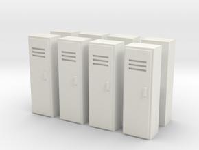 Locker (x8) 1/100 in White Natural Versatile Plastic